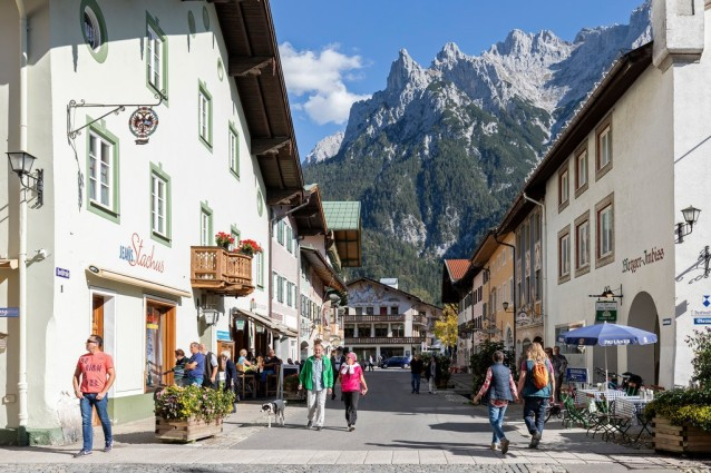 The impeccably preserved Bavarian town of Mittenwald is a center of violin-making.